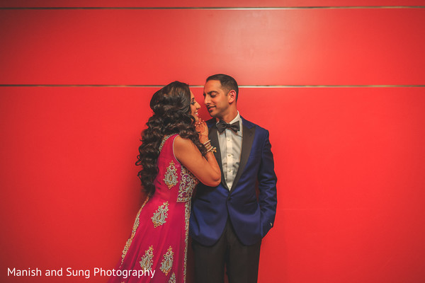 Bride and Groom Reception Photo in Lancaster, PA Indian Wedding by Manish and Sung Photography