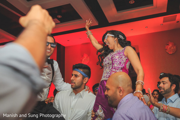 Bride and Groom Reception Party in Lancaster, PA Indian Wedding by Manish and Sung Photography