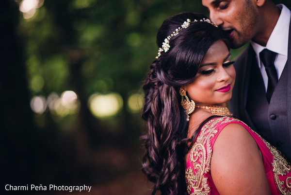 Reception portraits in Morristown, New Jersey Indian Wedding by Charmi Peña Photography