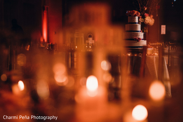 Mood lighting in Morristown, New Jersey Indian Wedding by Charmi Peña Photography