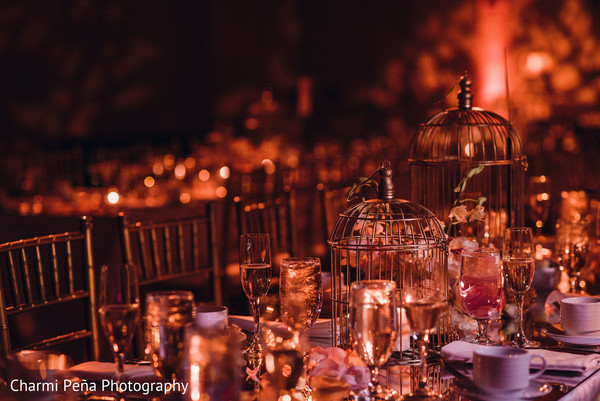 Wedding reception in Morristown, New Jersey Indian Wedding by Charmi Peña Photography