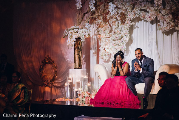 Sweetheart stage in Morristown, New Jersey Indian Wedding by Charmi Peña Photography