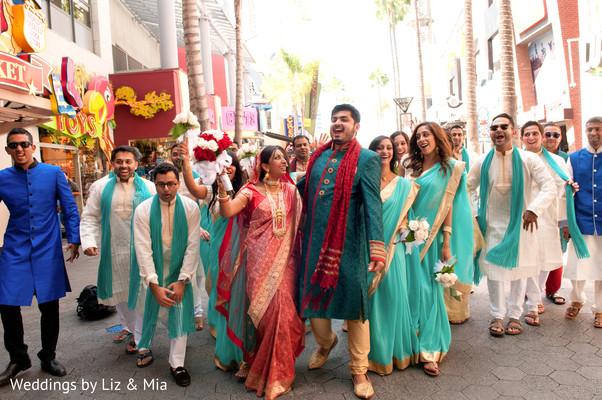 Wedding Party Photo in Studio City, CA Indian Wedding by Weddings by Liz & Mia
