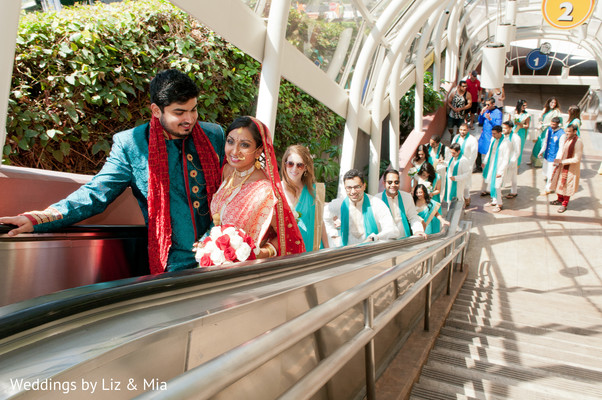 Wedding Party in Studio City, CA Indian Wedding by Weddings by Liz & Mia