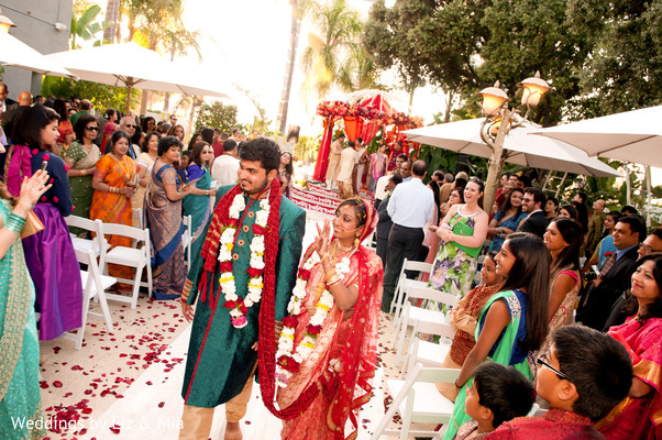 Bride and Groom Entrance in Studio City, CA Indian Wedding by Weddings by Liz & Mia