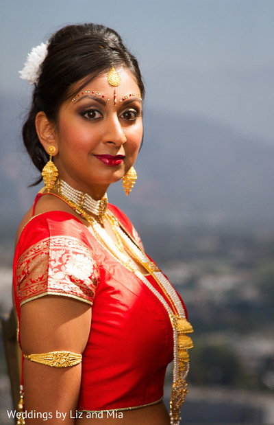 Indian Bride Portrait in Studio City, CA Indian Wedding by Weddings by Liz & Mia