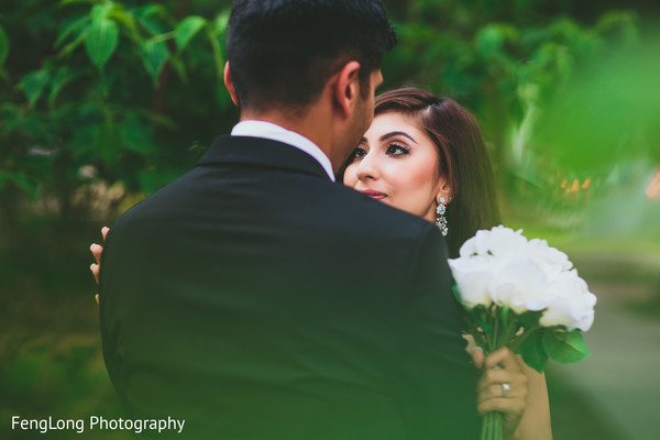 First look portraits in Atlanta, GA Indian Wedding by FengLong Photography