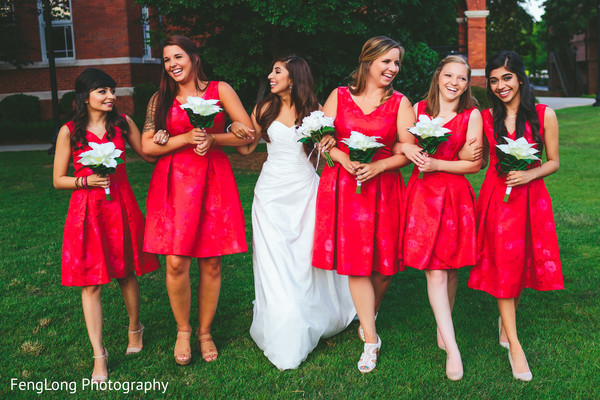 Bridesmaids fashions in Atlanta, GA Indian Wedding by FengLong Photography