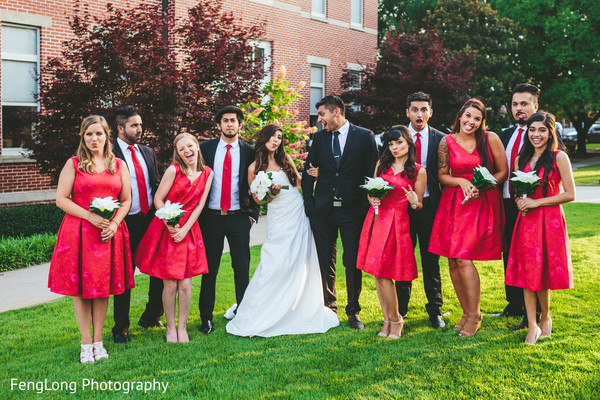 Bridal party in Atlanta, GA Indian Wedding by FengLong Photography