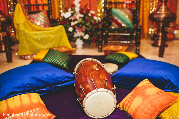 Sangeet decor in Atlanta, GA Indian Wedding by FengLong Photography