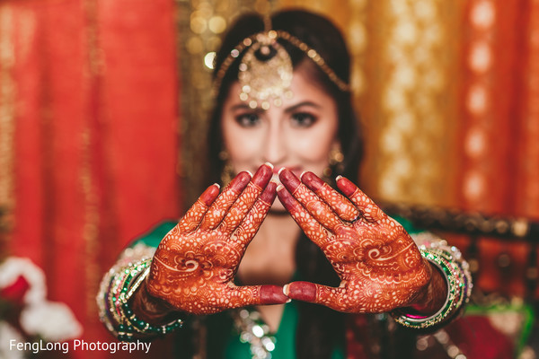 Bridal mehndi in Atlanta, GA Indian Wedding by FengLong Photography