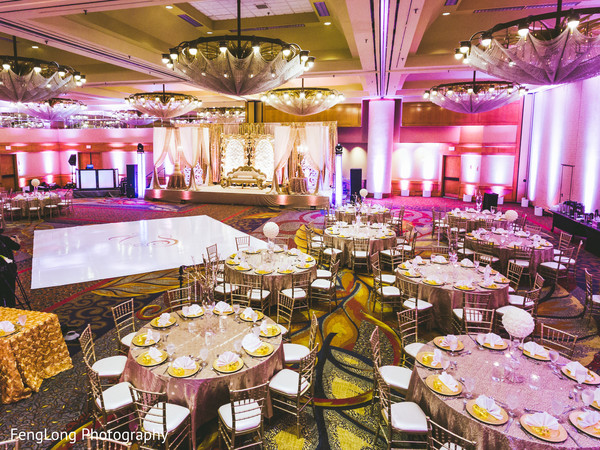 Ballroom in Atlanta, GA Indian Wedding by FengLong Photography