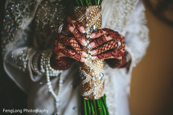 Bridal bouquet in Atlanta, GA Indian Wedding by FengLong Photography