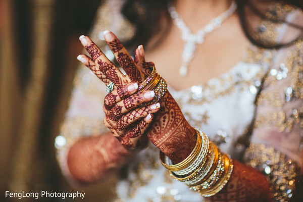 South asian bridal jewelry in Atlanta, GA Indian Wedding by FengLong Photography