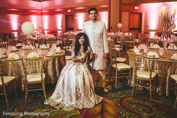 Reception portraits in Atlanta, GA Indian Wedding by FengLong Photography