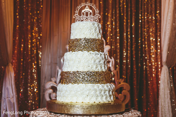 Indian wedding cakes in Atlanta, GA Indian Wedding by FengLong Photography