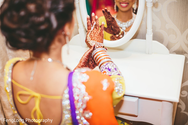 Indian bride getting ready in Atlanta, GA Indian Wedding by FengLong Photography