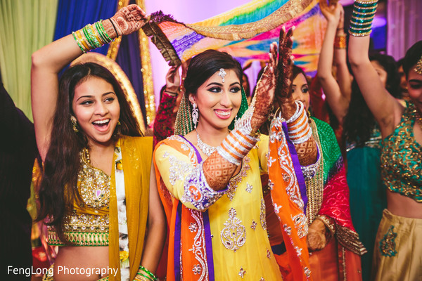 Gaye holud in Atlanta, GA Indian Wedding by FengLong Photography