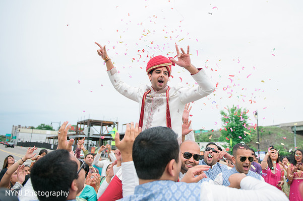 Indian Groom Baraat in Worcester, Massachusetts Indian Wedding by NYNJ Photography