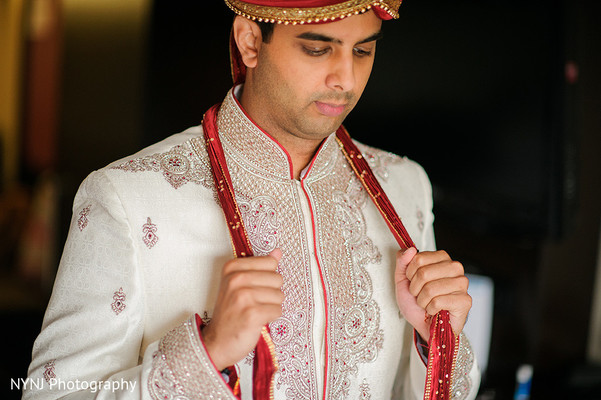 Groom Portrait in Worcester, Massachusetts Indian Wedding by NYNJ Photography