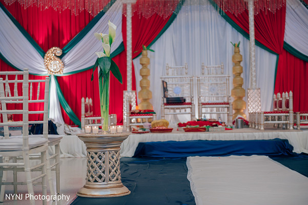 Ceremony Venue in Worcester, Massachusetts Indian Wedding by NYNJ Photography