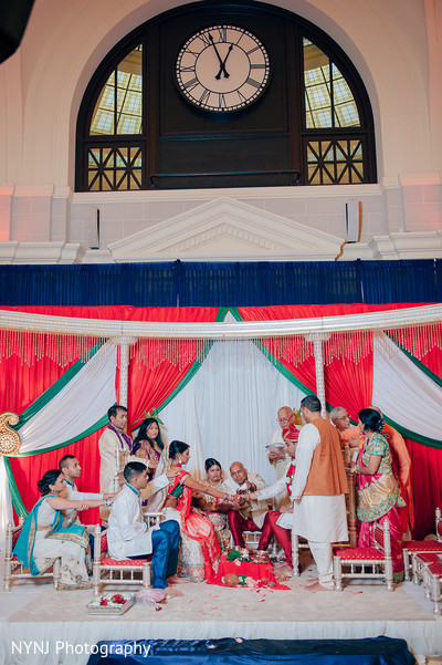 Indian Wedding Ceremony Venue in Worcester, Massachusetts Indian Wedding by NYNJ Photography