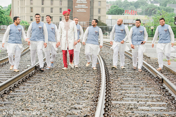 Groomsmen in Worcester, Massachusetts Indian Wedding by NYNJ Photography