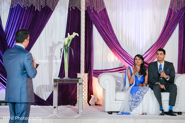 Wedding Reception Speech in Worcester, Massachusetts Indian Wedding by NYNJ Photography
