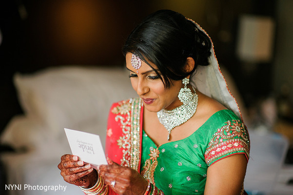 Bridal Portrait in Worcester, Massachusetts Indian Wedding by NYNJ Photography