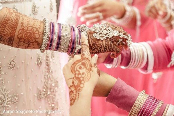 Bridal Mehndi on Hands in Fairhaven, MA Fusion Wedding by Aaron Spagnolo Photography