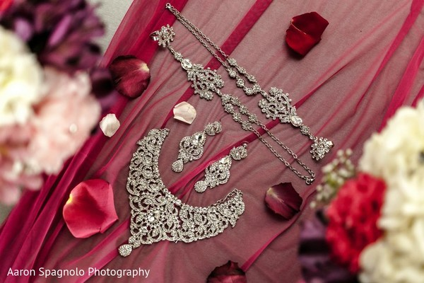 Silver Bridal Jewelry in Fairhaven, MA Fusion Wedding by Aaron Spagnolo Photography