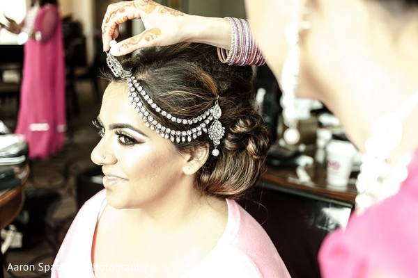Bride Getting Ready in Fairhaven, MA Fusion Wedding by Aaron Spagnolo Photography