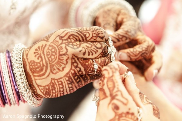 Bridal Henna in Fairhaven, MA Fusion Wedding by Aaron Spagnolo Photography