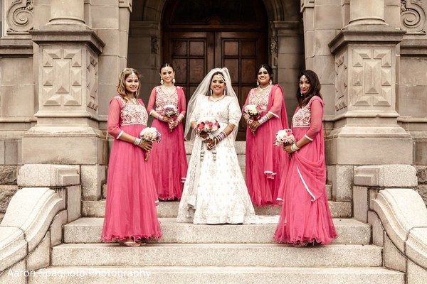 Bridal Party in Fairhaven, MA Fusion Wedding by Aaron Spagnolo Photography