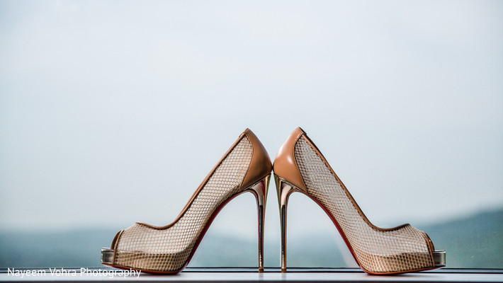 Bridal shoes in Piermont, NY South Asian Wedding by Nayeem Vohra Photography