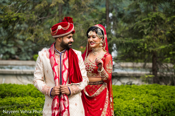 First look portraits in Piermont, NY South Asian Wedding by Nayeem Vohra Photography