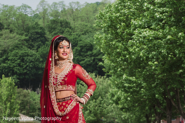 Indian bridal portrait in Piermont, NY South Asian Wedding by Nayeem Vohra Photography
