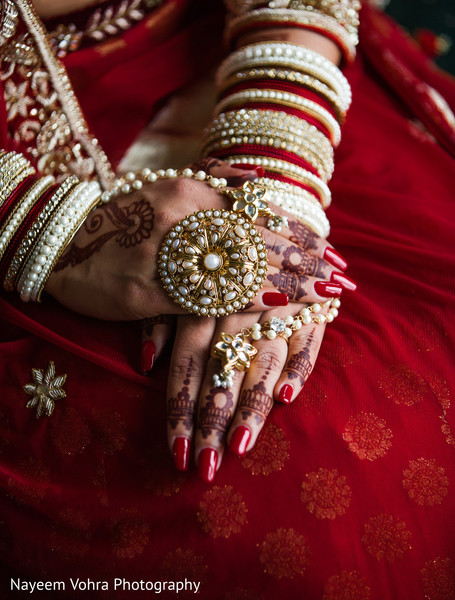 South asian bridal jewelry in Piermont, NY South Asian Wedding by Nayeem Vohra Photography