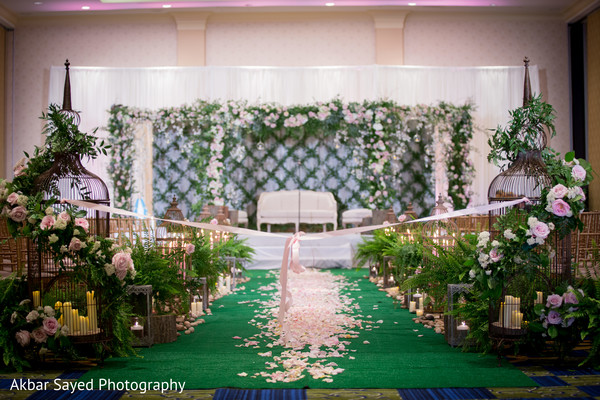 Indian Wedding Stage in Baltimore, MD Pakistani Fusion Wedding by Akbar Sayed Photography