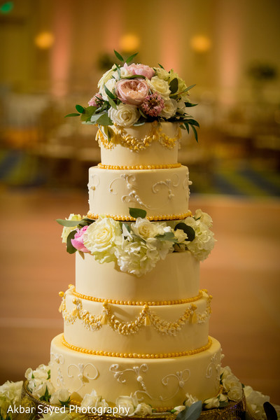 Indian Wedding Cake in Baltimore, MD Pakistani Fusion Wedding by Akbar Sayed Photography