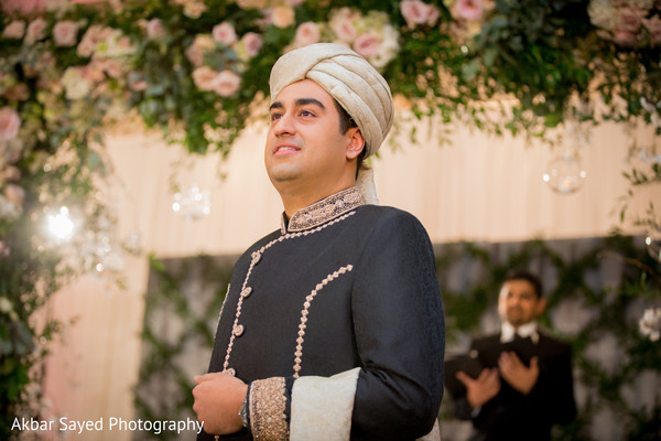 Indian Groom Portrait in Baltimore, MD Pakistani Fusion Wedding by Akbar Sayed Photography