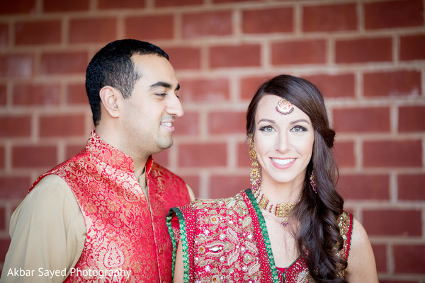 Bride and Groom Portrait in Baltimore, MD Pakistani Fusion Wedding by Akbar Sayed Photography