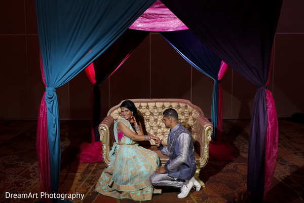 Beautiful Indian bridal couple in Cancun, MX Indian Wedding by DreamArt Photography