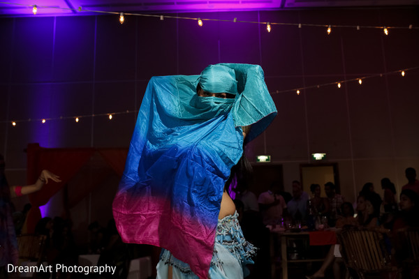 Bollywood Dancer at Indian Wedding Reception in Cancun, MX Indian Wedding by DreamArt Photography