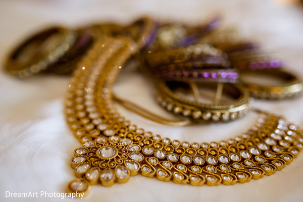 Beautiful Indian Bridal Jewelry in Cancun, MX Indian Wedding by Dream Art Photography