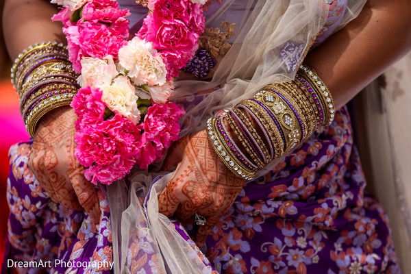 See the beautiful and delicate jewelry our Indian bride is wearing in Cancun, MX Indian Wedding by Dream Art Photography