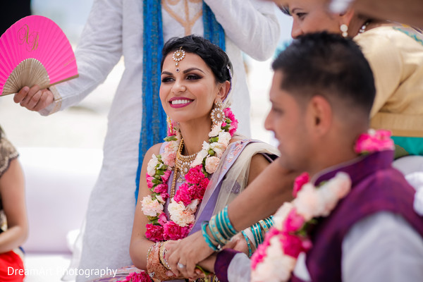 See this lovely Indian bride in the most special day in her life in Cancun, MX Indian Wedding by DreamArt Photography