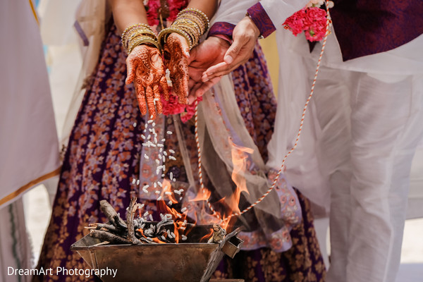Join us in another beautiful Indian wedding tradition in Cancun, MX Indian Wedding by DreamArt Photography