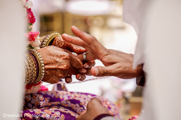 About to become Mr. and Mrs in Cancun, MX Indian Wedding by DreamArt Photography
