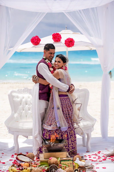 Lovely first shot at this Indian wedding ceremony in Cancun, MX Indian Wedding by DreamArt Photography